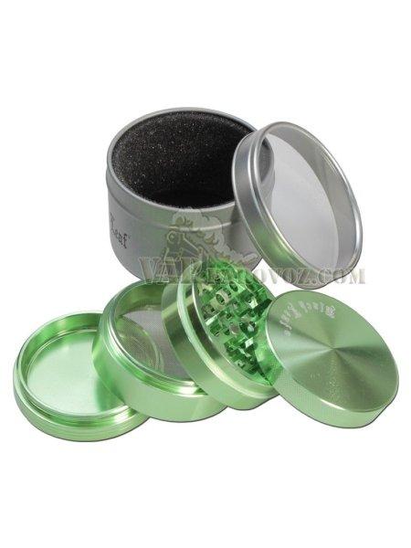 """Механический гриндер """"Black Leaf"""" Ø 55мм/ 4 секции Green"""